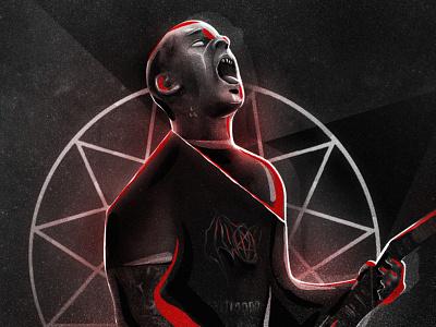 Nödtveidt digitalpainting blackmetal dissection jonnödtveidt digitalillustration digitalart illustration art