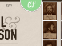 Wedding website header