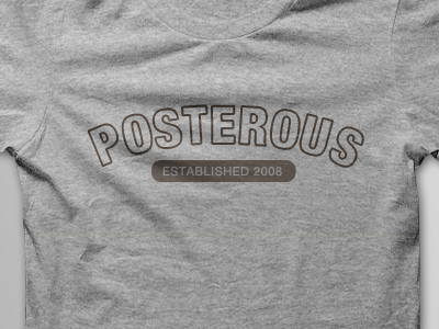 Posterous T-Shirt Mock #3 tshirt posterous helvetica early