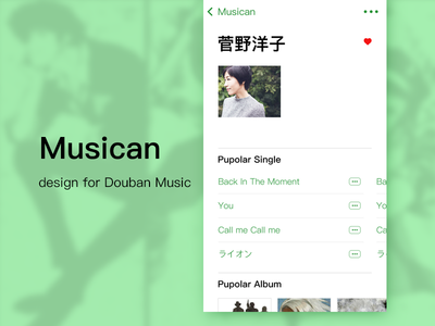 Musican Detail Page