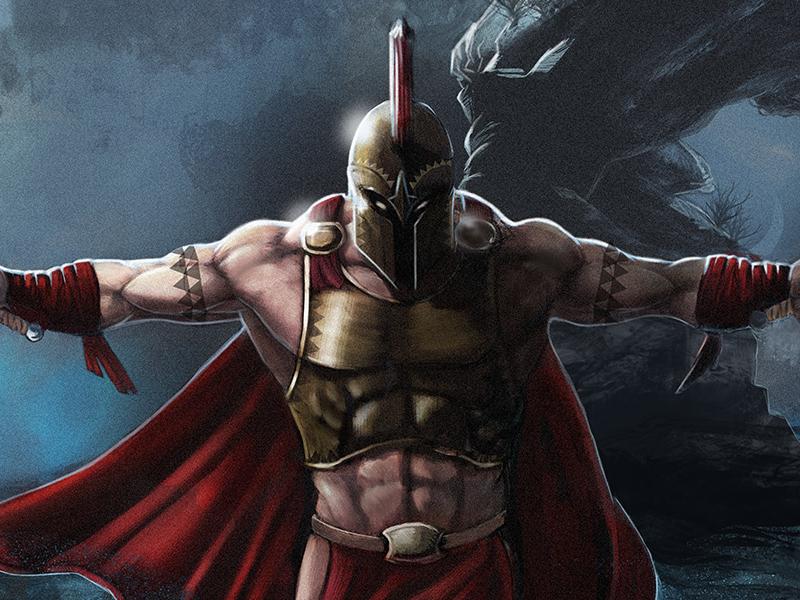 Ares god of war by oliver m ller dribbble dribbble - Ares god of war wallpaper ...