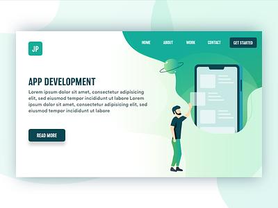 App Development startup development appdevelopment app material graphic web typography illustration design character