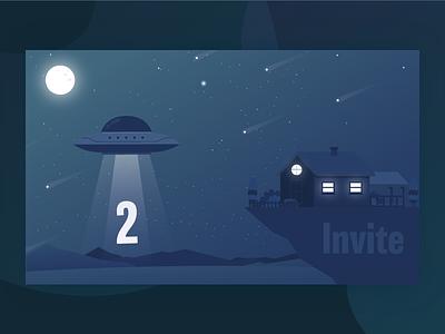 Dribble Invite team connection prospect identity member join invitation invite illustrative giveaway  illustration give dribbble