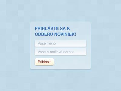 Sign up for our newsletter! slovak newsletter blue transparency transparent rounded