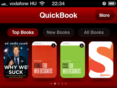 Top Books iphone ios book books red webapp app