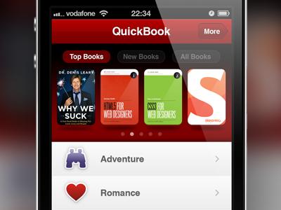 Adventure & Romance red book books iphone ios webapp app