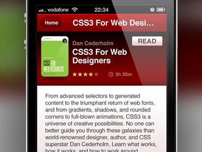 Book Details app webapp ios iphone books book red