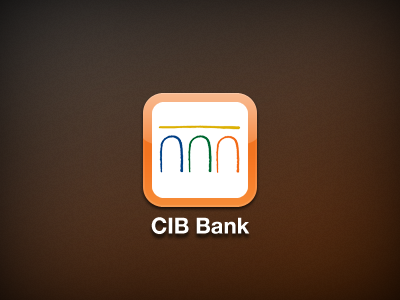 CIB Bank iPhone webclip icon iphone orange webclip icon retina brown iphone icon