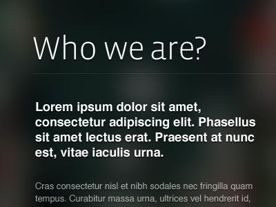 Playing with typography helvetica dark vista sans minimal web webdesign client work