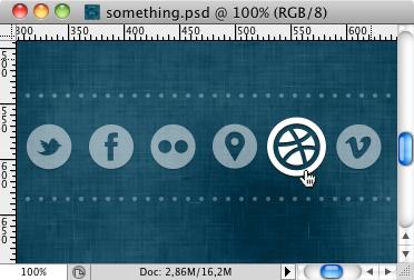 something.psd circle blue white photoshop icon set