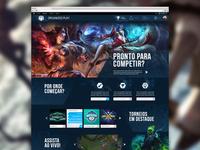 League of Legends - Tournaments league of legends ui design riot games game ux ui lol tounament web visual