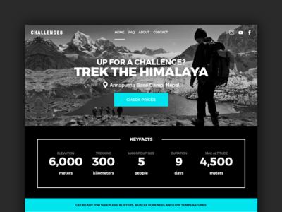 CHALLENGE8 challenge travel camp base nepal mountains hiking trek himalaya