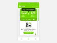 Ticket Screen on the New FlixBus iOS app ux ui screen ticket ios app flixbus