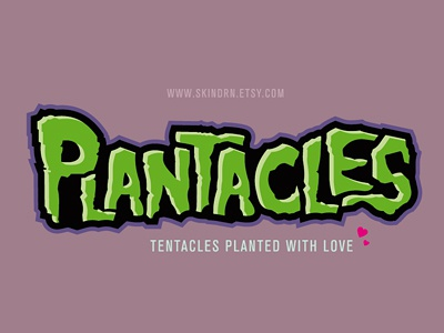 Plantacles - Planted Tentacles Typework tentacle plants creepy horror typework font type