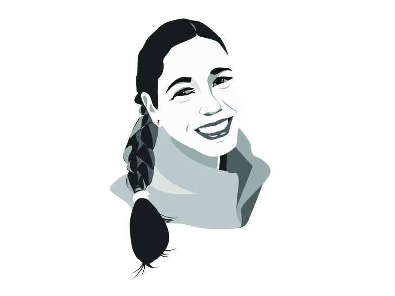 Self Portrait 1 monochrome illustrator illustration graphic design design branding person face self portrait graphicdesign graphic
