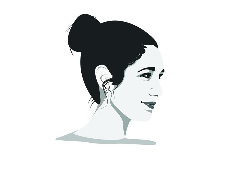Self Portrait 2 person face illustrator illustration graphic design graphic design branding monochrome profile self portrait