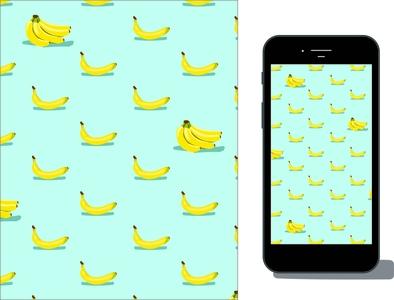 this is Bananas summer mockup repeat wallpaper food illustration illustrator illustration icon graphic design graphic fruit food eats design colorful branding