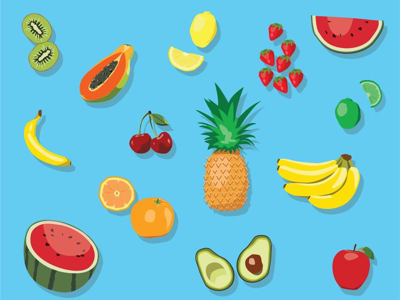 Fruit Party fun summertime summer icon fruit food eats illustrator illustration graphic design graphic design colorful branding