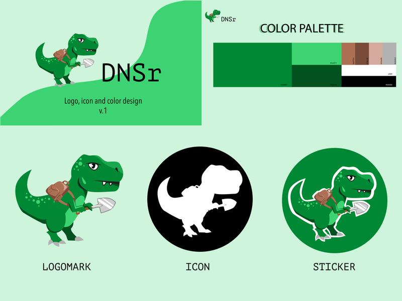 DSNr sticker color palette ui logo icon colorful illustrator illustration graphic design graphic design branding