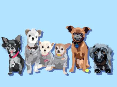 Dog gang design nyc instafamous instagram branding logo icon illustrator illustration graphic design graphic
