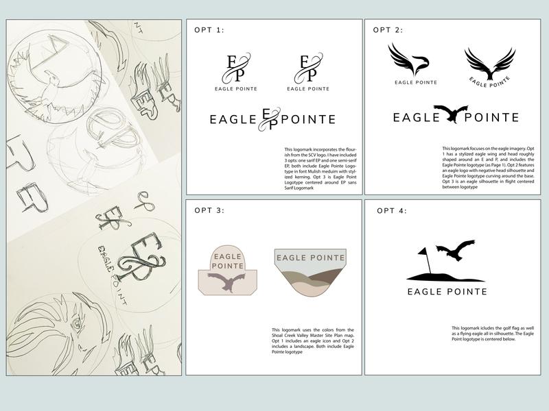 Eagle Pointe Logo Exploration brand identity design eagle brand identity brand design sketch ui colorful logo icon illustrator illustration branding graphic design graphic design