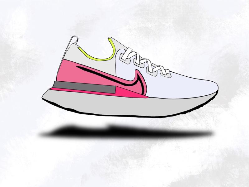 i just love running runners marathon nike shoes nike running shoes running summer colorful illustrator branding graphic design graphic design
