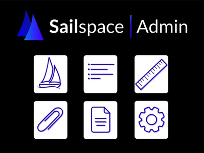 Sailspace Admin admin panel admin logotype logomark app typography ux ui illustrator logo icon branding graphic design graphic design