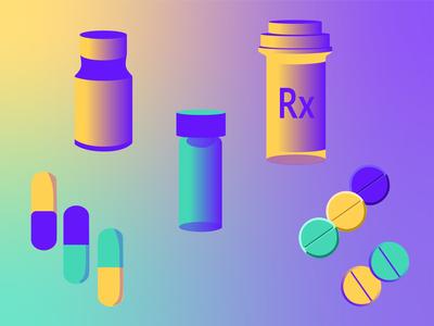 Medical Icon Kit prescription pills medical app medicine medical app ux icon colorful illustration branding graphic design graphic design