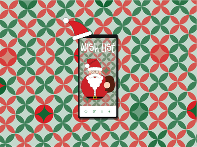 in the holiday spirit wishlist holiday christmas app design ios app ui ux logo colorful illustration branding graphic design graphic design
