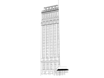 home home apartment line drawing architecture new york city skyscraper building nyc procreate illustrator illustration branding graphic design graphic design