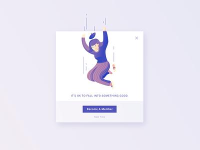 DailyUI 016 Pop-Up / Overlay membership overlay popup illustration website web ui ux design dailyui