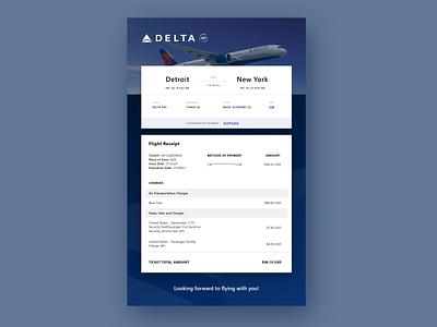 DailyUI 017 Email Receipt Flight Ticket Confirmation email web ui ux design dailyui