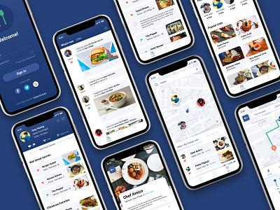 Foodie App service community social business directory food and drink food app yelp mobile food ios ux ui design