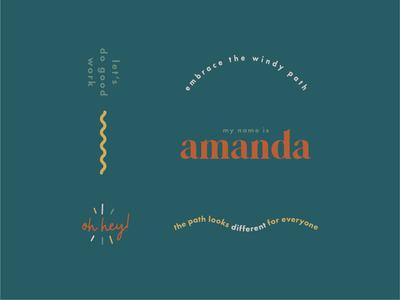 Amanda Mausner Visual Identity brand identity design brand identity branding logo messaging