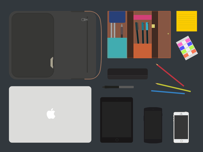 My Product nexus5 photoshopcc iphone5s ipadmini illustration macbookair flat