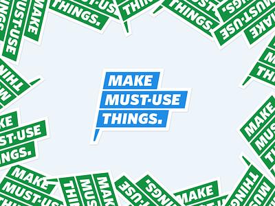 MAKE MUST-USE THINGS mark ridi sticker illustration