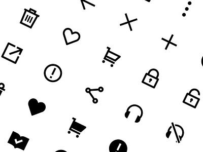 RIDI System Icons ui design icon