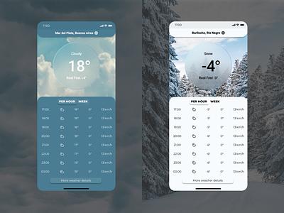 Weather - Service Design Club's UI Marathon (Challenge 2) user interface argentina sky mobile weather uiux ui daily ui dailyui challenge