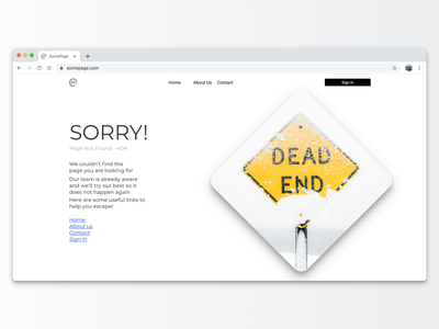 404 Page - Service Design Club's UI Marathon (Challenge 4) dead end 404 error interface designweb web design google argentina user interface uiux ui daily ui dailyui challenge