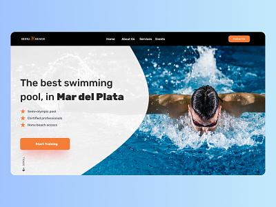 Landing Page - Service Design Club's UI Marathon (Challenge 6) beach club honu pool landing landing page gym swimming design argentina ui user interface uiux daily ui dailyui challenge