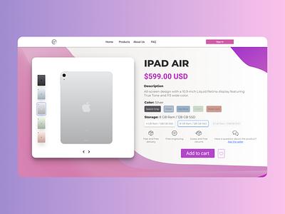 Single Product - Service Design Club's UI Marathon (Challenge 9) shop product commerce ecommerce ipad mac apple design argentina user interface ui uiux daily ui dailyui challenge