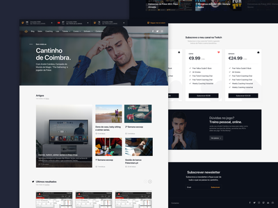 acoimbra.pt | Homepage pricing newsfeed feed twitter services newsletter news ux desktop blog design article blog website design white clean interface ui