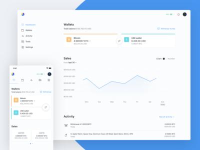 OpenNode - Dashboard — Desktop & Mobile