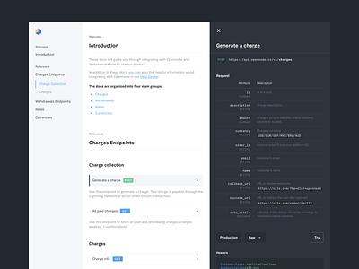 OpenNode - Documentation code flat clean api docs documentation desktop interface significa ui