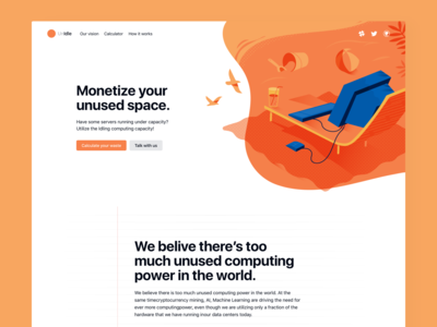 Unidle - Landing page