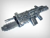 Gears of War Lancer Custom Nerf Gun