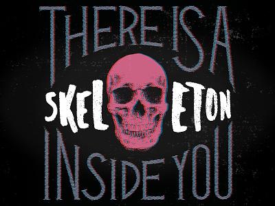 Inside You lettering skull