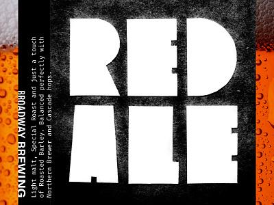Broadway Brewing: Red Ale homebrewing beer label beer