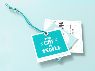 My Cat Is People ~ Clothing Tags