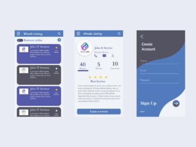 Review app signup design ux adobe xd ui